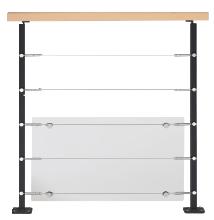 Balustrade Steel avec câbles galva