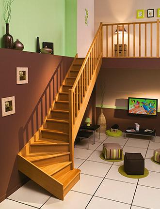 escaliers authentique chêne