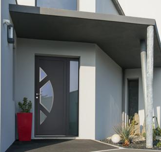 porte d'entrée PVC Mellite
