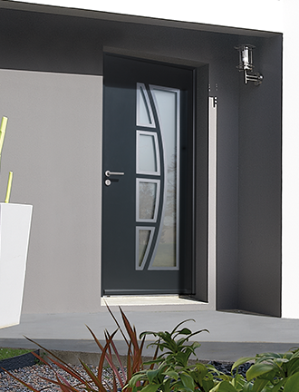 portes d 39 entr e aluminium gimm menuiseries vente n gociant. Black Bedroom Furniture Sets. Home Design Ideas