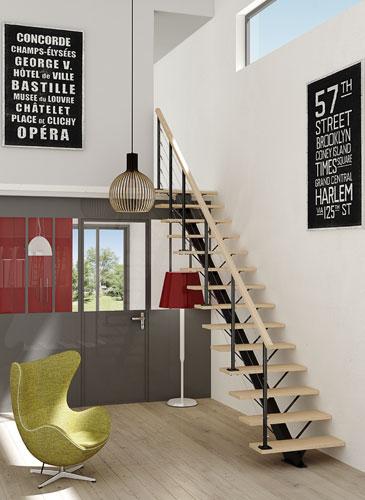 Escalier Poutre Centrale GIMM menuiserie