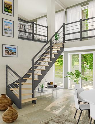 Escaliers Graphic Bois