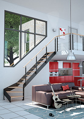 Escaliers mixtes