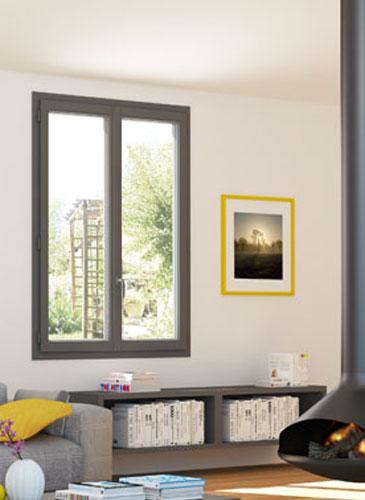 Fenêtre Maxitherm² Plaxé PVC GIMM menuiserie