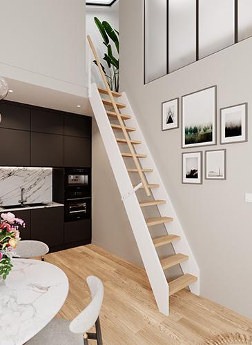 Echelle de meunier Escale en bois sur-mesure