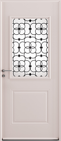 Porte d'entrée Bloomy en acier gamme Newsteel. GIMM Menuiseries