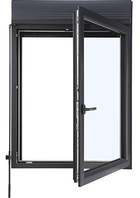 Fenêtre Maxitherm² pvc avec volet roulant intégré