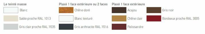 fenêtre pvc sur mesure : coloris GIMM Menuiseries
