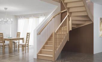 escalier PMR Hêtre - GIMM Menuiseries