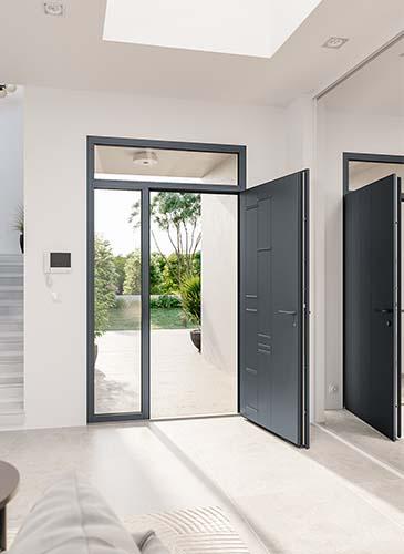 Porte d'entrée aluminium haut de gamme Dorado- GIMM Menuiseries