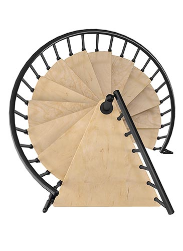 escalier hélicoïdal Spiranobois - GIMM Menuiseries