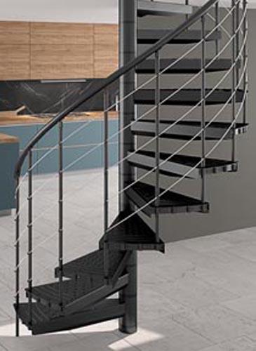 escalier hélicoïdal Spiranometal - GIMM Menuiseries